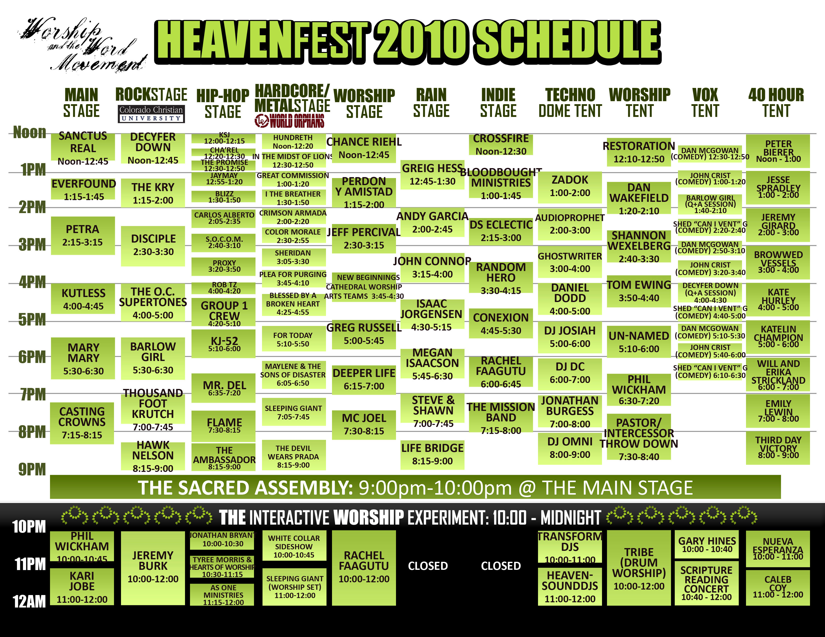 Heaven Fest 2010 in Longmont Colorado Kicks Off, 70 Bands