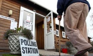 British polling station
